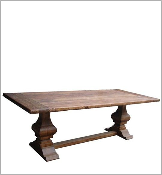 Country Glam Dining Table Rustic Furniture Dining Table Dining