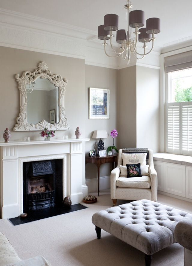 Grey And White Victorian Living Room Home Living Room London Living Room