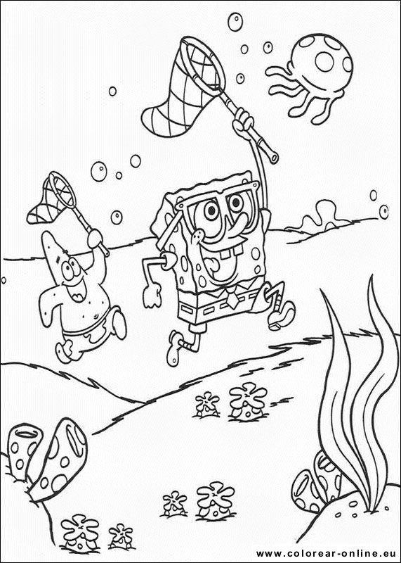 Sponge Bob Bob Esponja Paginas Para Colorear Para Ninos