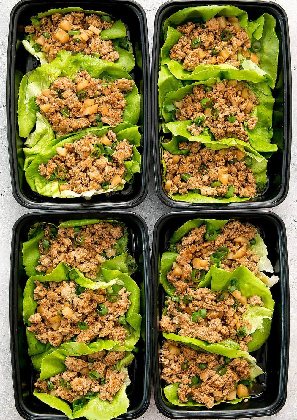 Chicken Lettuce Wraps Meal Prep #healthylunches