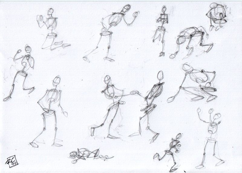drawing exercise: stick figures moving | Drawings and Drawing ...