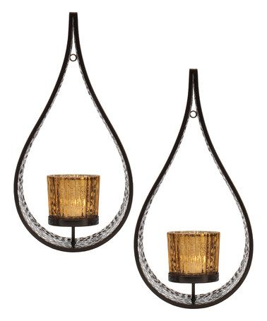 half off 67e6d cbca6 This Mikasa Home Teardrop Laser-Cut Wall Sconce - Set of Two ...