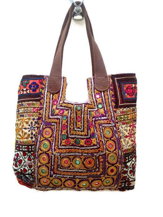 aa1995f578 ON SALE Banjara Tote Bag with Leather Handle