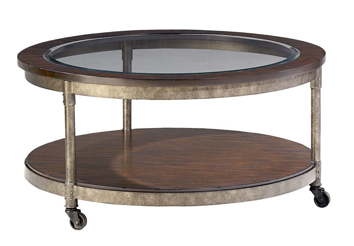 Structures Round Cocktail Table T3002005 00 Occasional Tables From Hammary At Crowley Furniture Round Coffee Table Coffee Table With Wheels Round Cocktail Tables [ 817 x 1175 Pixel ]