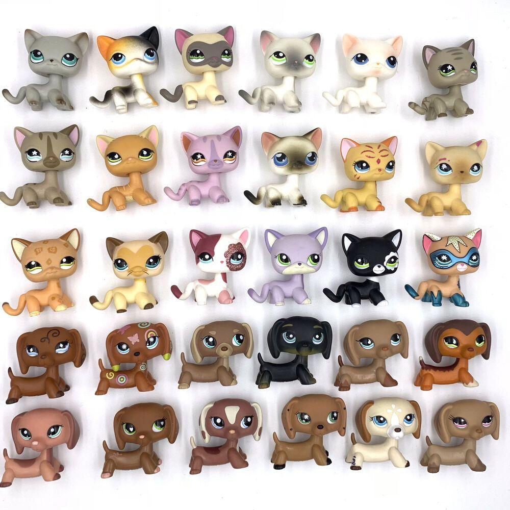 Details About 10 Pcs Lot Littlest Pet Shop Lot Cats And Dachshund