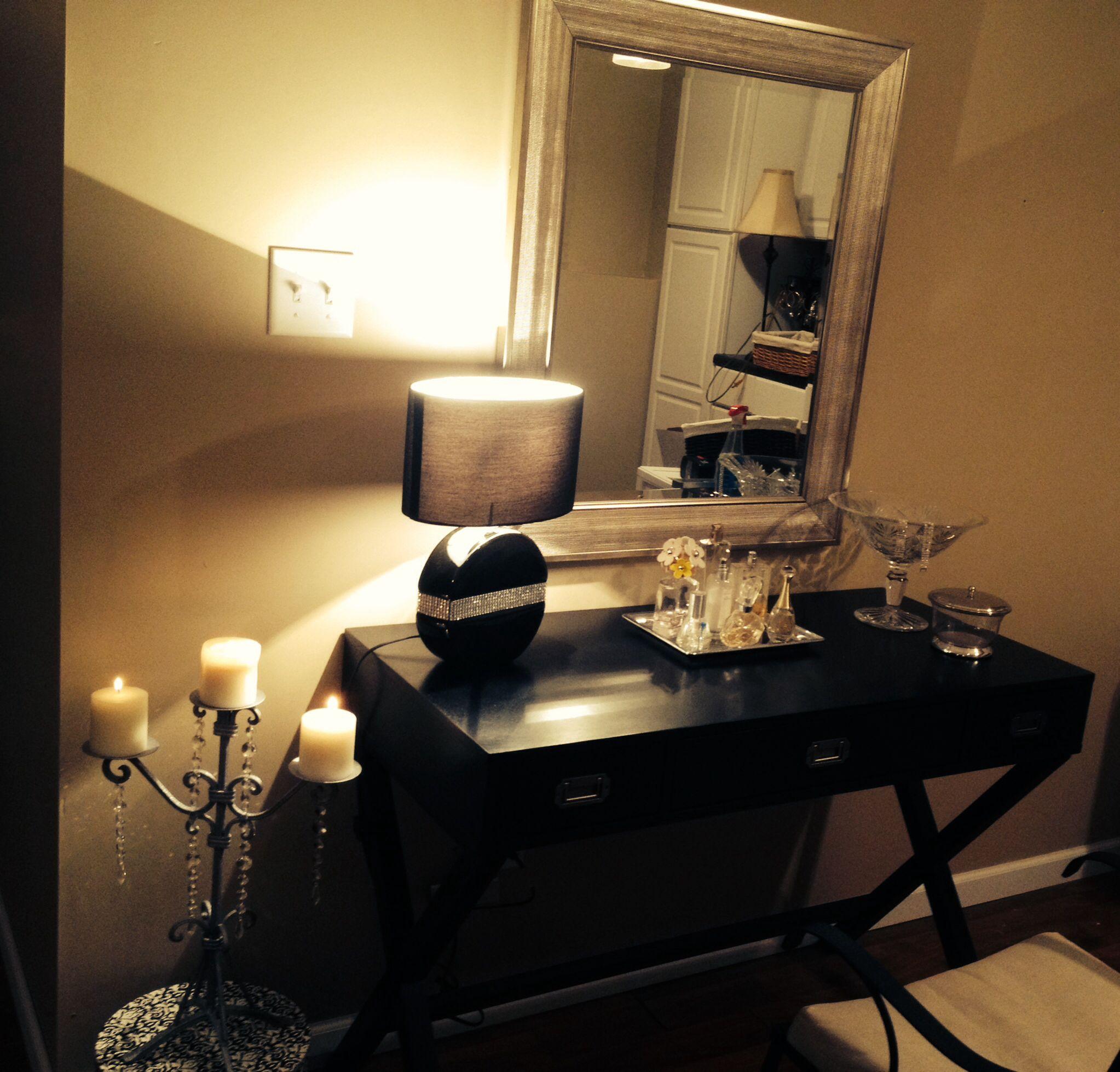 Make up Vanity Target-Table Hobby Lobby-Lamp Mirror-Kirklands Makeup vanity Pinterest ...