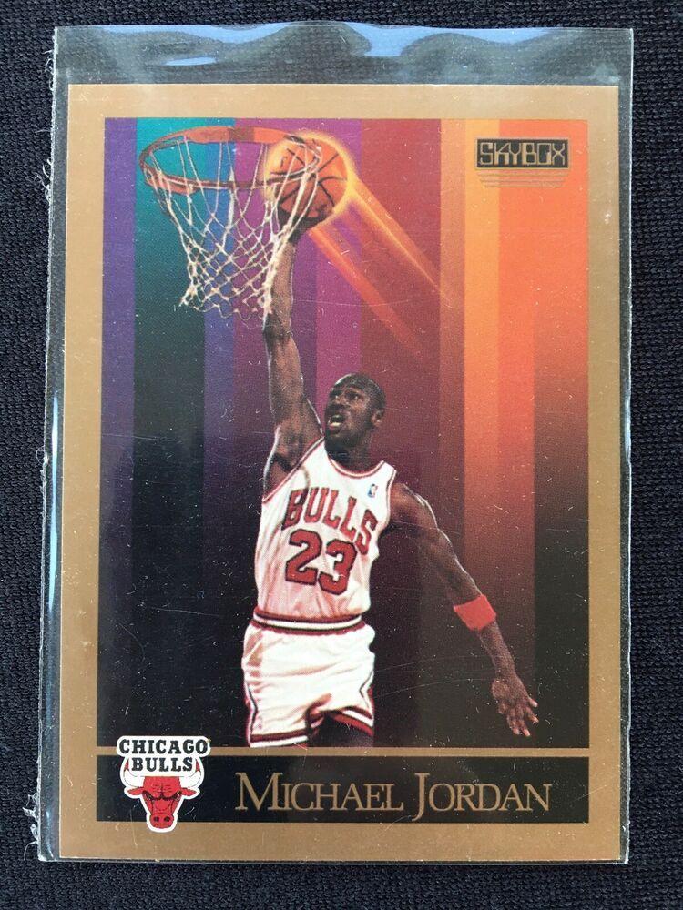 Michael jordan 1990 nba skybox basketball card chicago