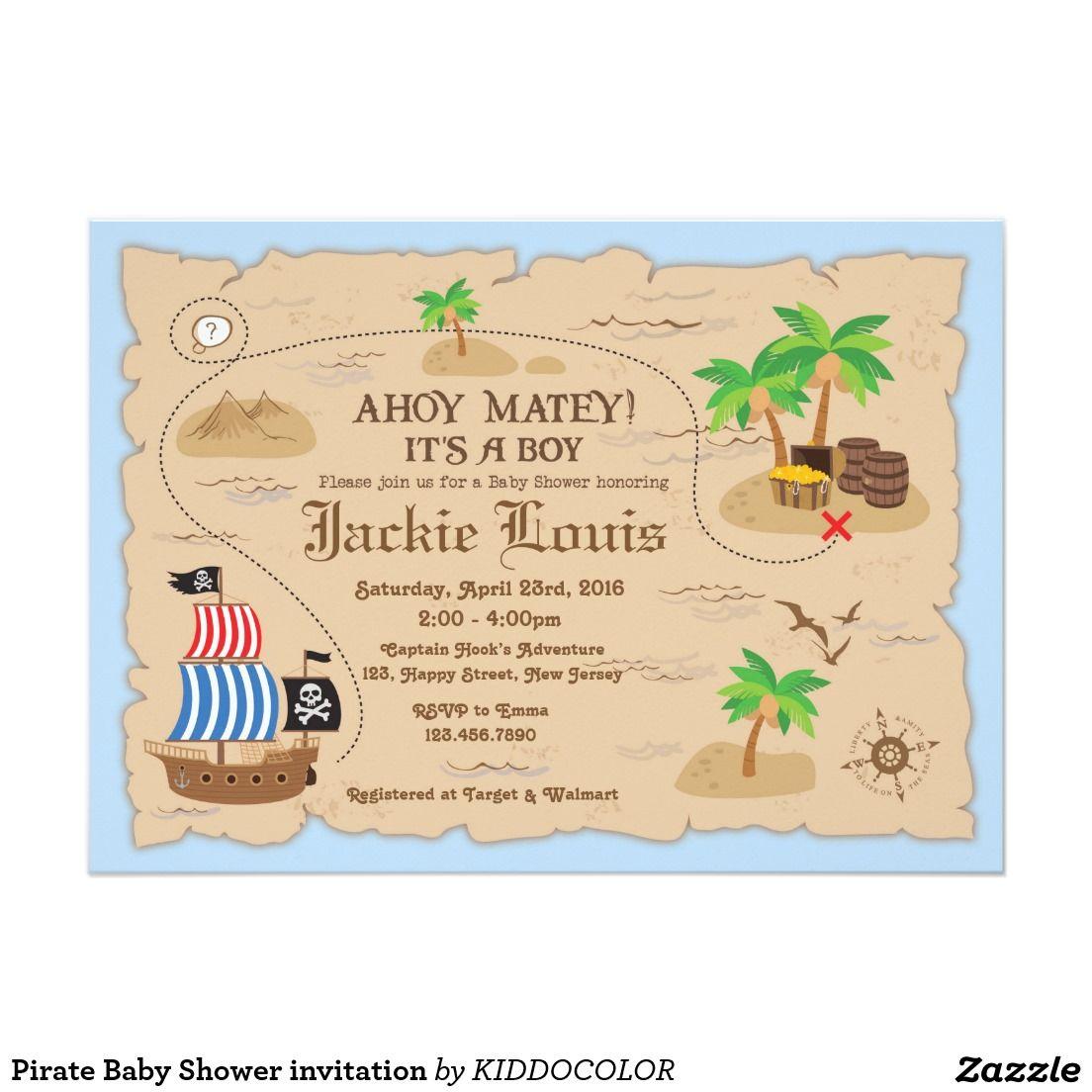 Pirate Baby Shower invitation | Pirate baby