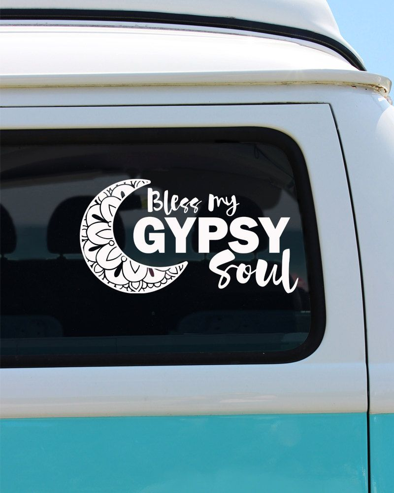 Bless My Gypsy Soul Gypsy Vinyl Window Decal Cat Sticker Car - Cat custom vinyl decals for car windows