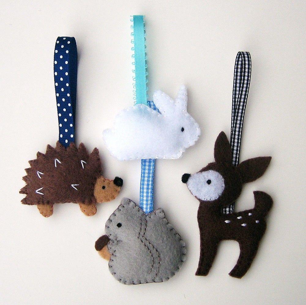 Handmade Felt Christmas Ornaments Woodland Animals