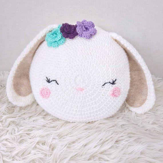 Bunny Pillow Pattern - bunny pillow - crochet bunny - bunny - Animal pillow - knit bunny - bunny toy #sewingbeginner