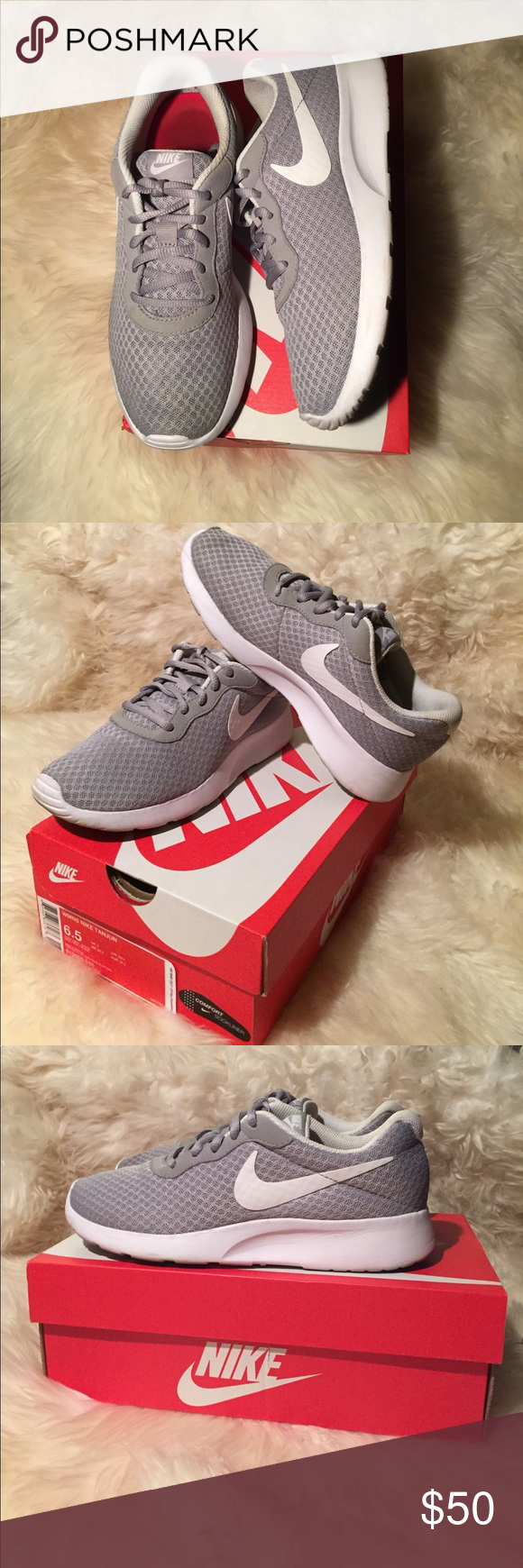 Women's Nike Tanjun Slightly used Wolf Grey/White size 6.5 Nike Tanjuns.  Excellent addition