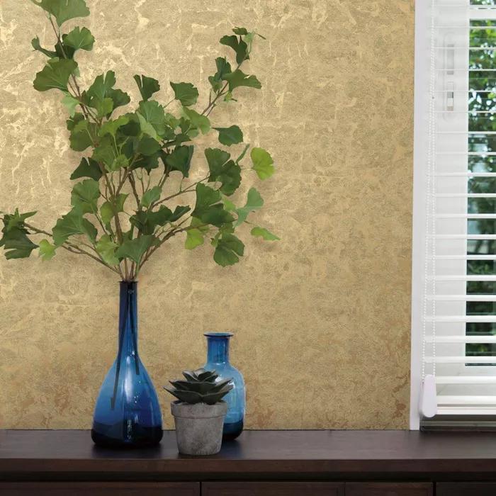 Roommates Leaf Peel And Stick Wallpaper Gold Peel And Stick Wallpaper Peelable Wallpaper Metallic Gold Leaf