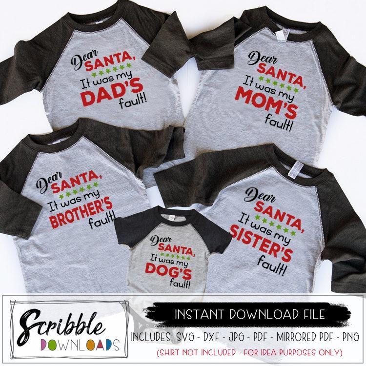 Dear Santa Family SVG Family shirts, Family christmas