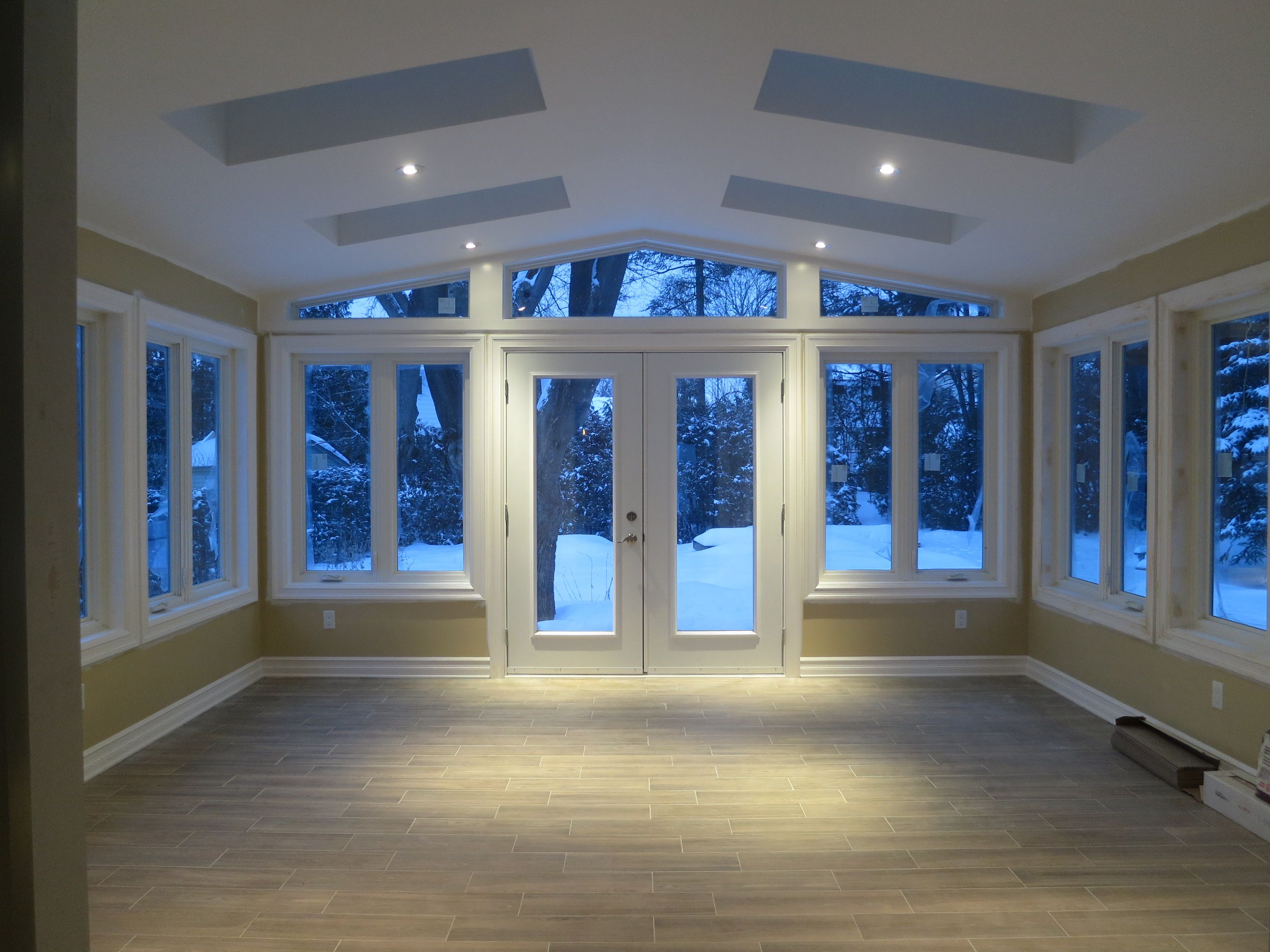 Just a couple more days until completion. The floors are a heated ...