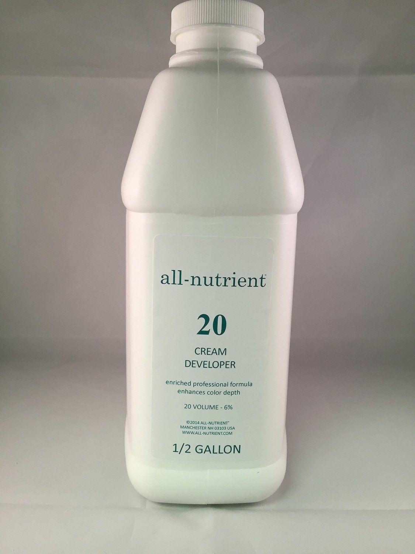 All Nutrient 20 Volume Cream Developer 64oz 12 Gallon Want