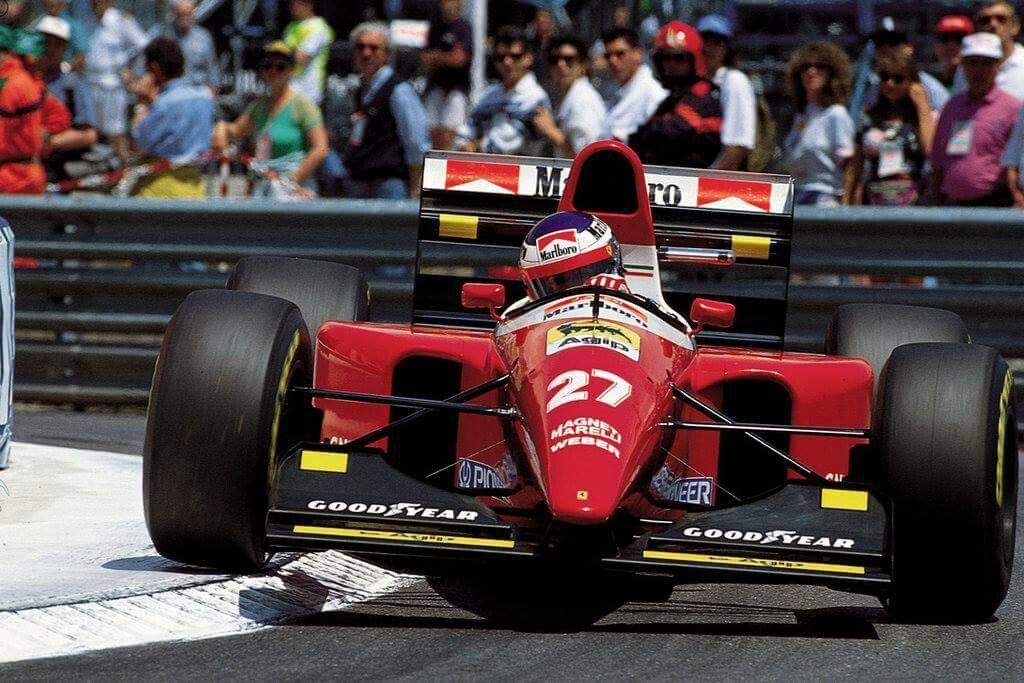 Jean Alesi (Ferrari) Monte Carlo 1993.