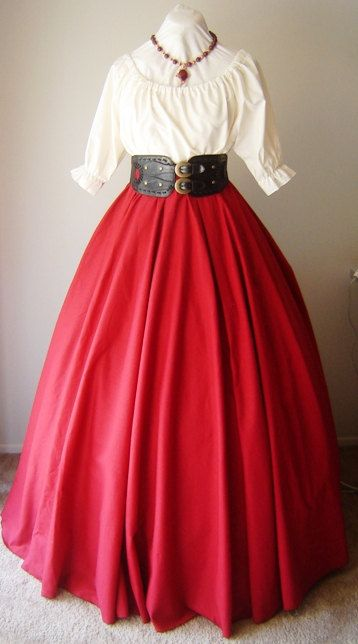 Full Length Three Panel Cotton Skirt  Your by welldressedlady, $34.99  I Love Full length skirts!