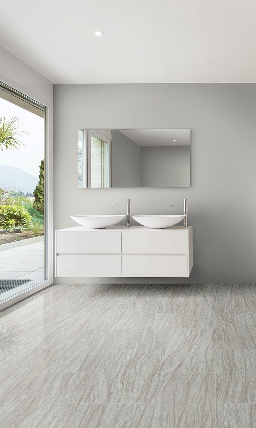 Want The Look Of Tile Without The Chill And Hassle Metroflor Konecto Sierra Tile Is The Perfect Solution With It Lvt Flooring Floor Design Bathrooms Remodel