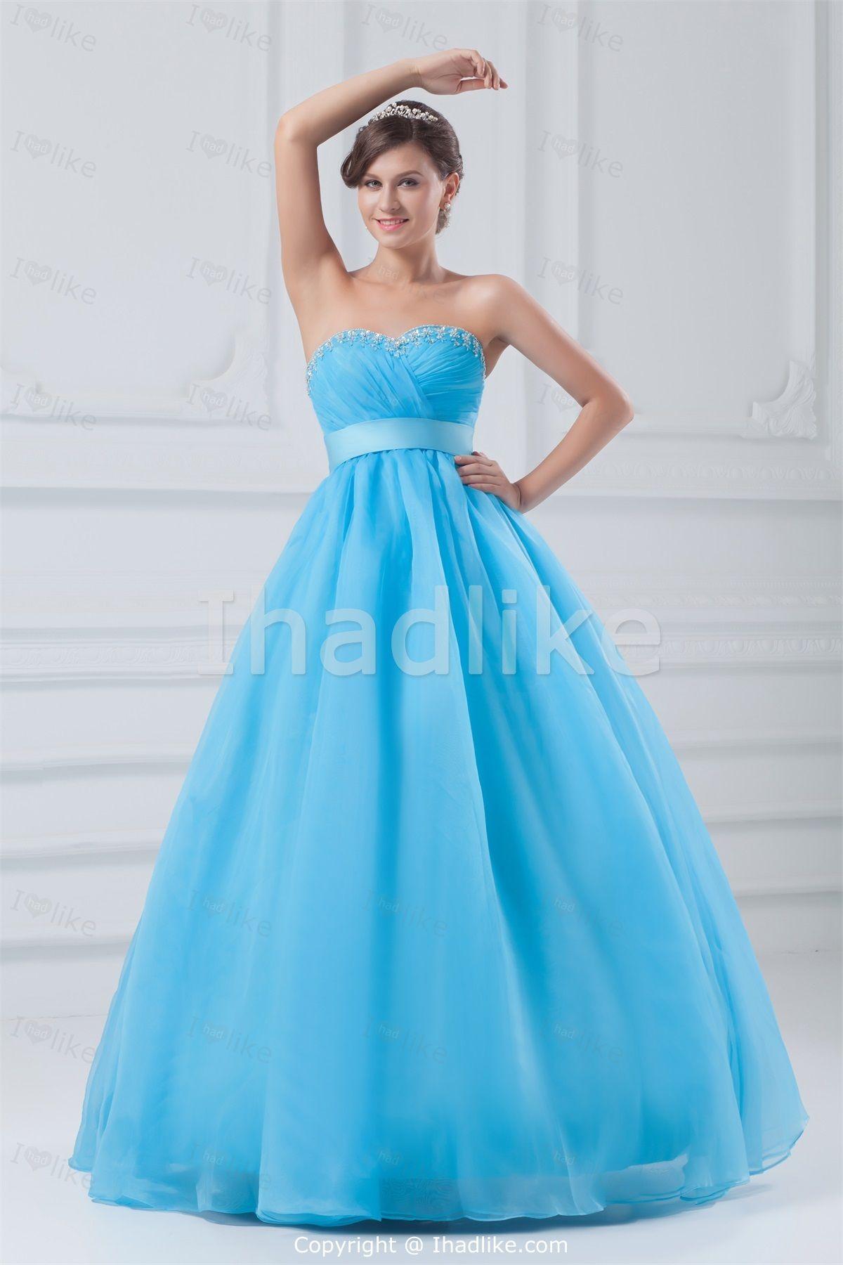 Most Beautiful Empire Blue Sleeveless Floor-Length Prom Dresses 2014 ...
