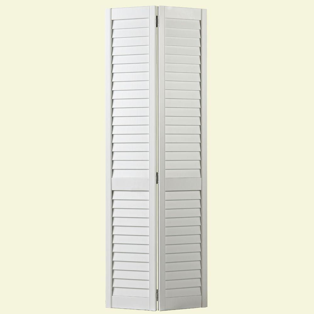 Masonite 30 In X 80 In Plantation Full Louvered Painted