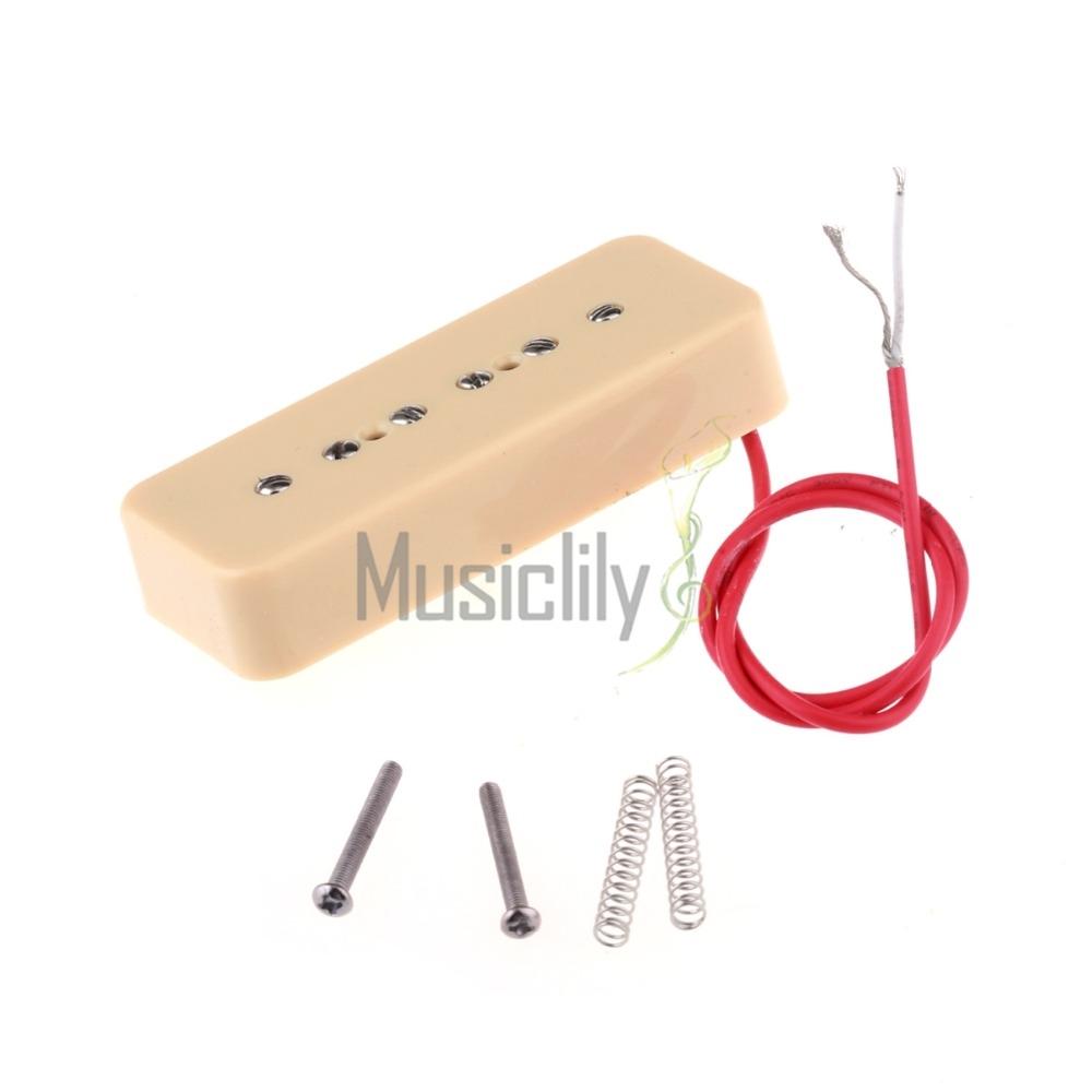 16.26$  Watch now - http://alifcq.shopchina.info/1/go.php?t=32231432317 - Cream Plastic P90 Soapbar Cover 52mm Bridge & 50mm Neck Guitar Single Coil Pickup Set  #magazine