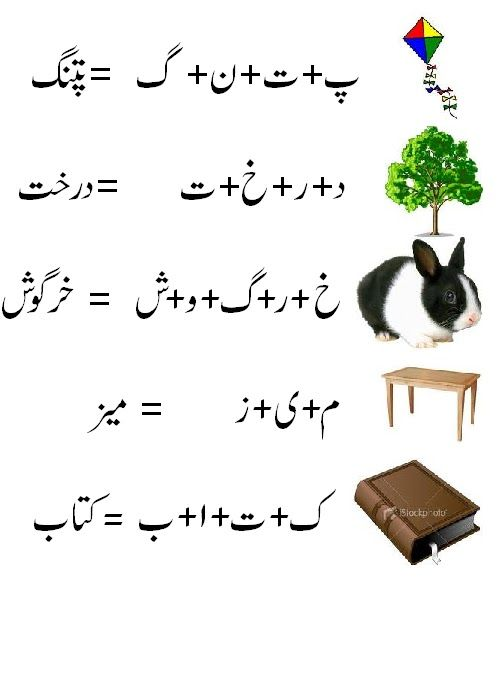 Urdu Worksheet  Urdu Alfaz Jortor  Wondring Pinterest
