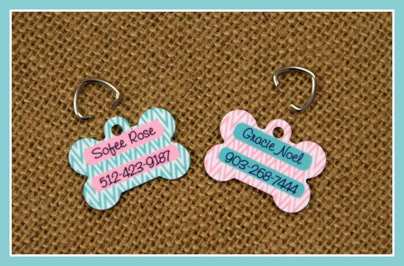 8e468a218118 Pet Tag ID Tag Pets Cats Dogs Dog Tag Personalized by ChicMonogram ...