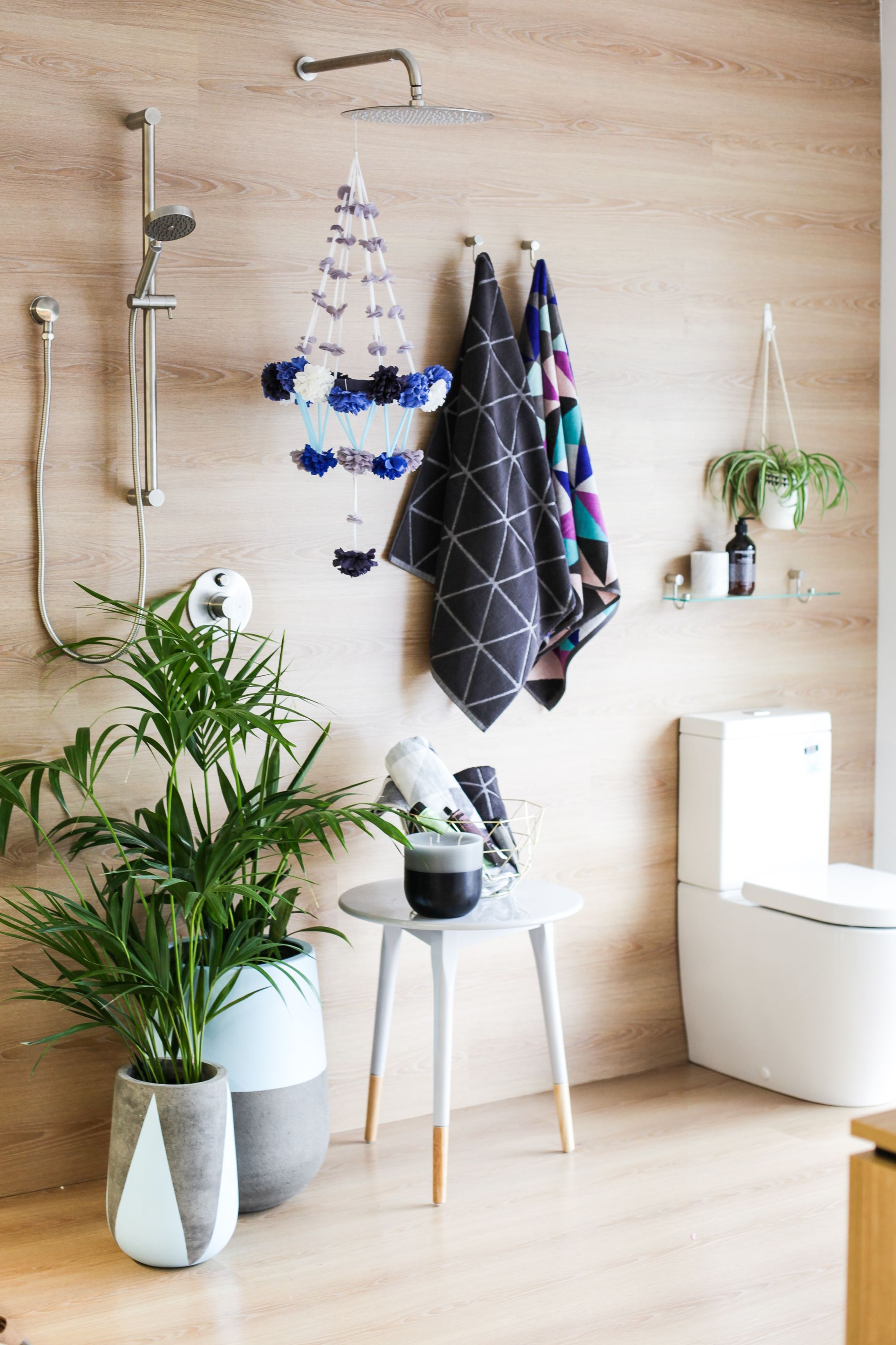 Boho Bathroom Styling Featuring The Caroma Titan Showers And Urbane Toilet Suite