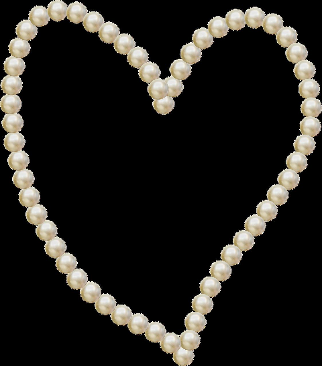 Heart Pearls Frame Love transparent image | Heart | Pinterest | Pearls