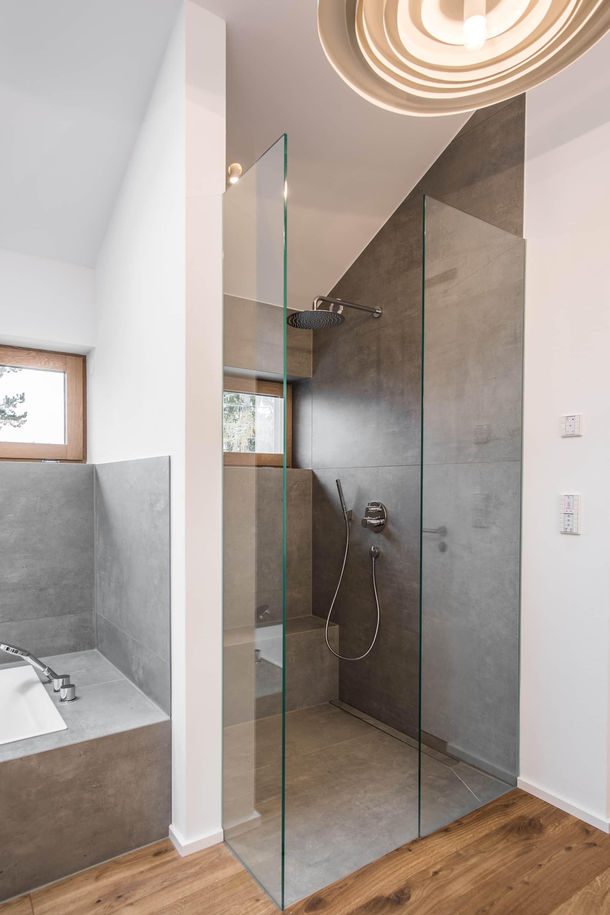 Badezimmer – dusche moderne badezimmer von mannsperger möbel + raumdesign modern | homify #myfuturehouse