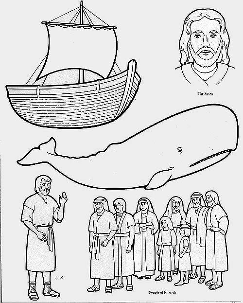 jonah and the whale coloring pages Jonah and the People of Nineveh - copy colouring pages of jonah and the whale
