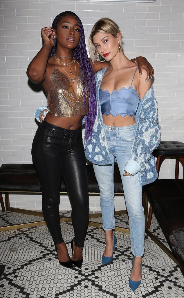 Justine Skye & Hailey Baldwin from The Big Picture: Today's Hot Photos The ladies rock some crop tops at and event in L.A.