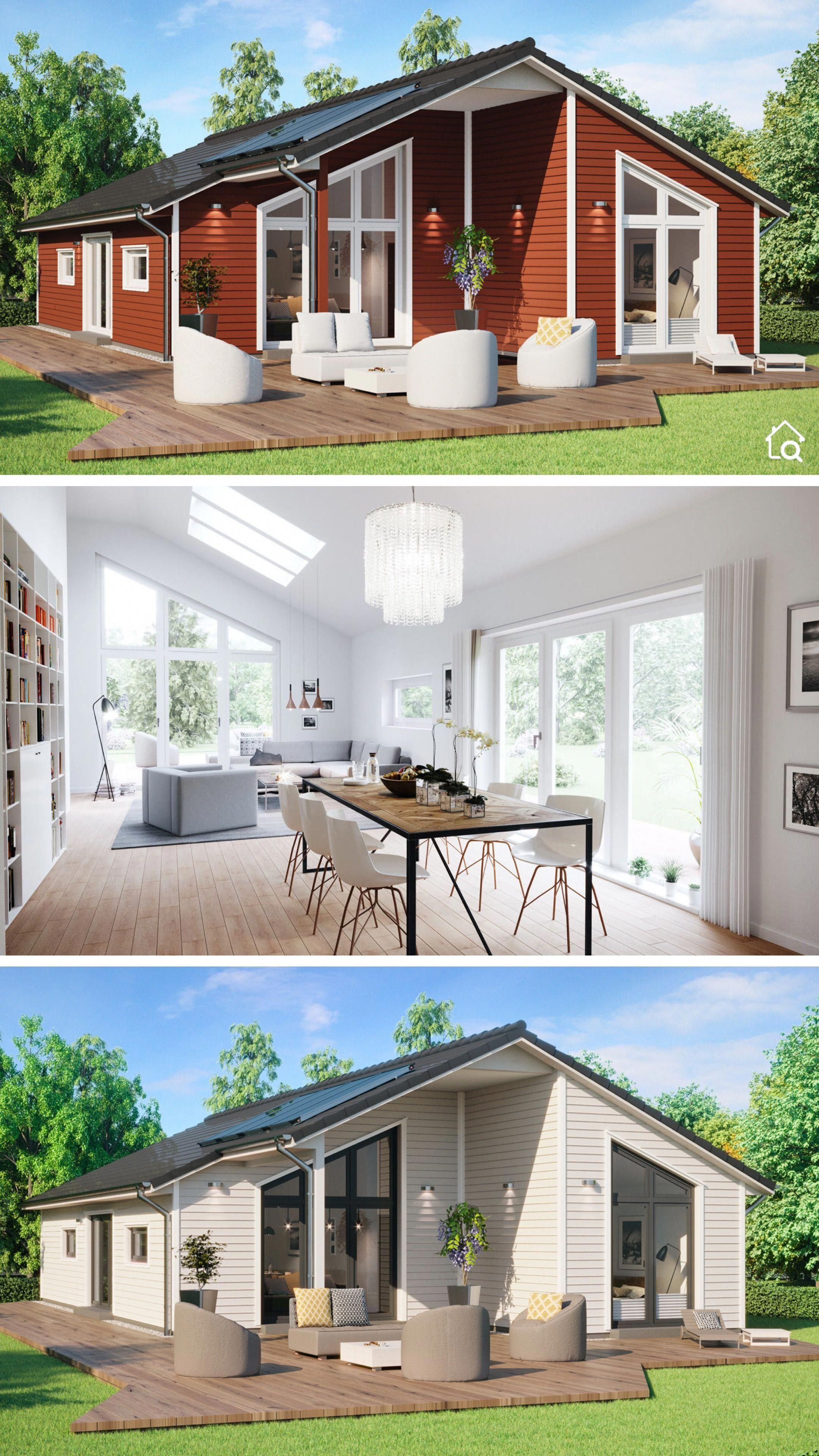 Bungalow House Architecture Design Modern Contemporary European Scandinavian Style Floor Plan Architecture House House Architecture Design Prefabricated Houses