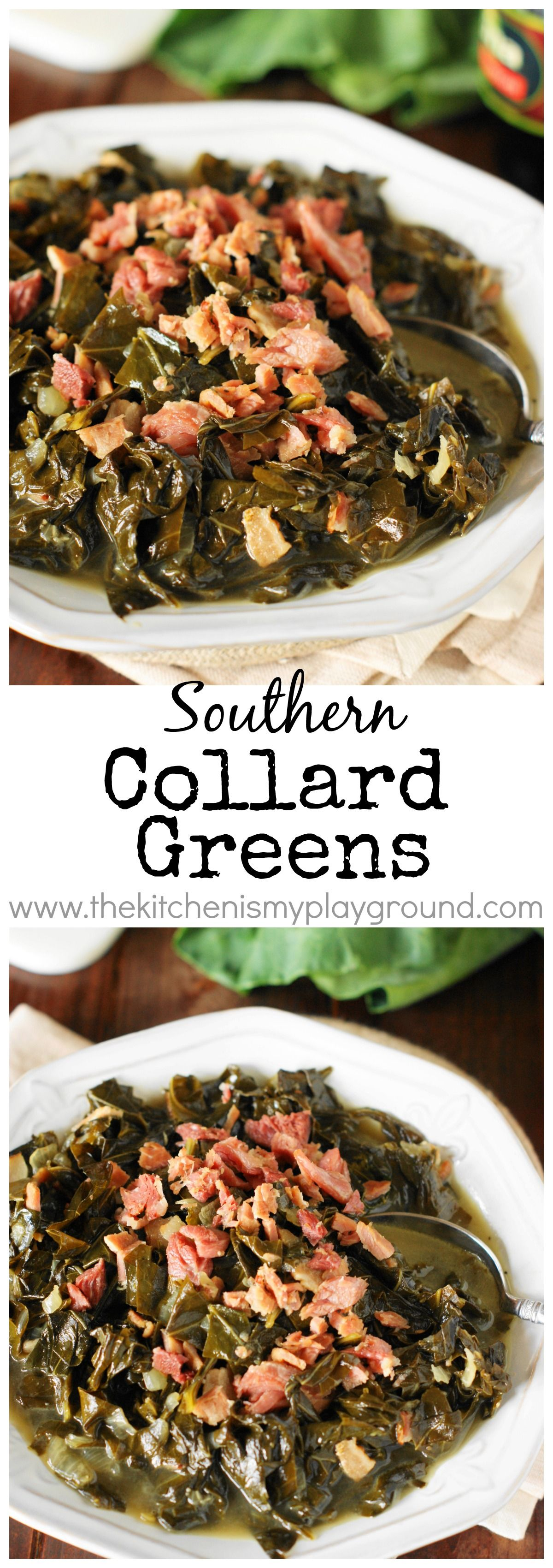 Photo of Southern Collard Greens ~ Enjoy tender, tasty collards for New Year's Day or ANY…