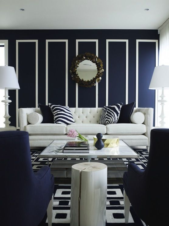10 Reasons Why Dark Walls Rule Navy Blue Living Room
