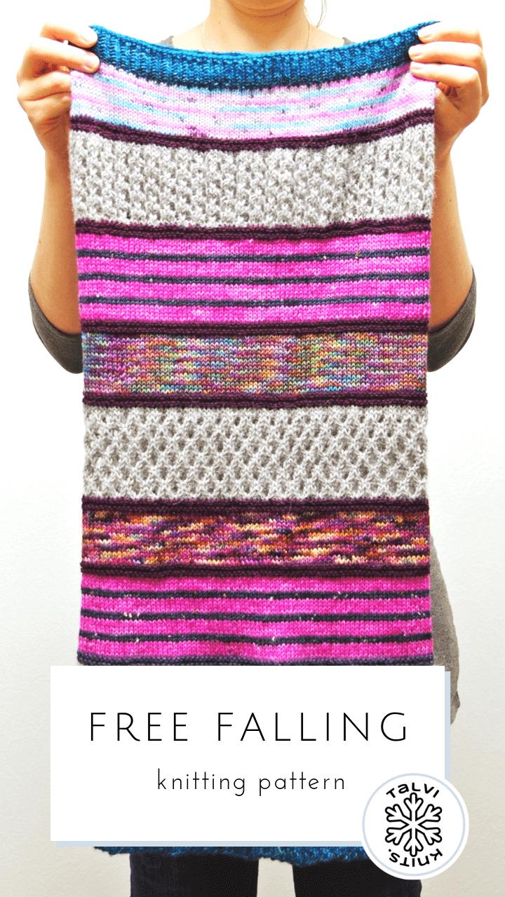 Free Falling :: talvi knits. Knitting pattern for a multi ...
