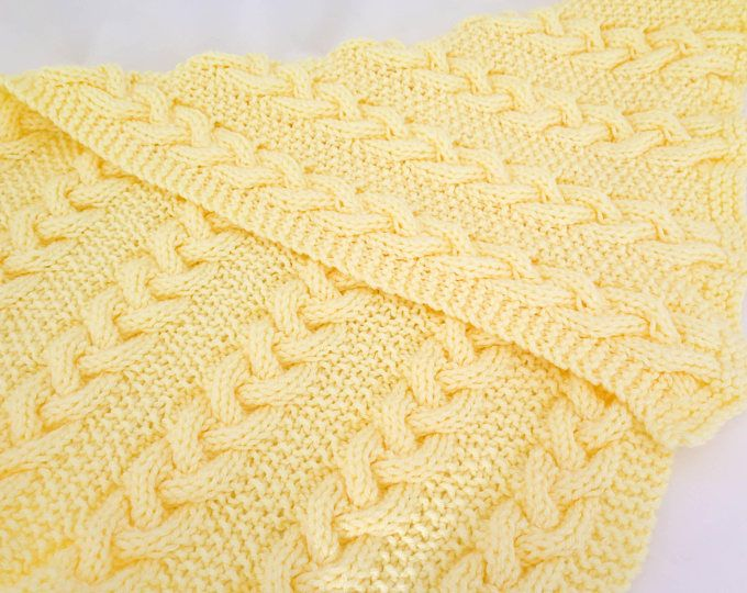 Knitting Pattern Baby Blanket Reversible Cable Blanket Hugs And