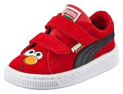 new arrivals cdbc0 47424 PUMA Suede Sesame Street Elmo Kids Sneakers. PUMA Suede Sesame Street Elmo  Kids Sneakers Toddler Shoes ...
