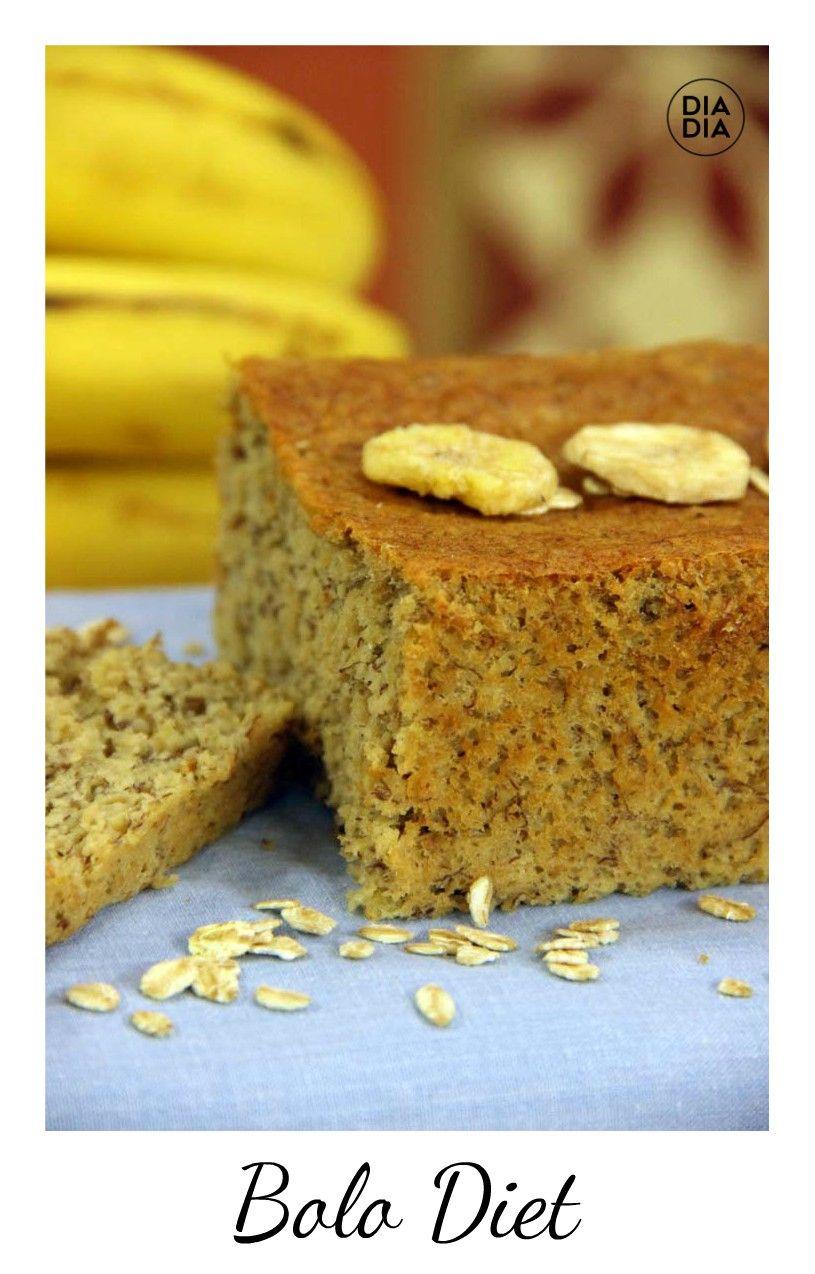 Bolo Diet De Aveia E Banana Receita Receitas Bolo Diet E