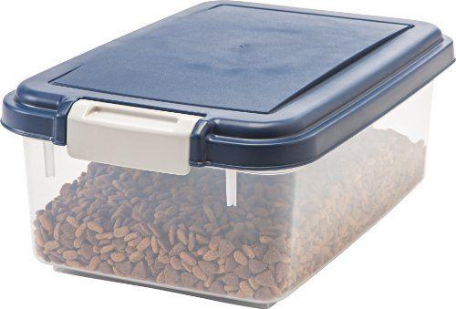 Amazon Com Iris Airtight Pet Food Storage Container For Treats 12 Quart Na Airtight Pet Food Storage Pet Food Storage Container Dog Food Storage Containers