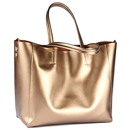 Yiwanda Women's Fashion Genuine Leather Extra Large Handbags Tote ...