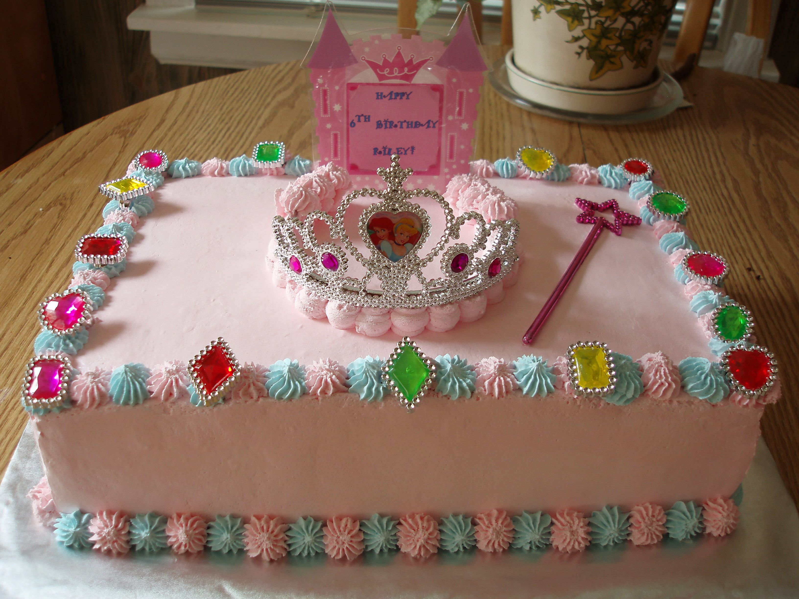 Princess Cake Chocolate cake filled with whipped cream and topped