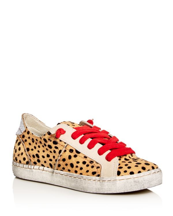 aa9d4255b63e Dolce Vita Zalen Calf Hair Lace Up Sneakers | shoes | Leopard ...