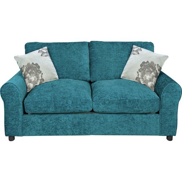 Buy Home Tessa 2 Seater Fabric Sofa Bed Teal At Argos Co Uk