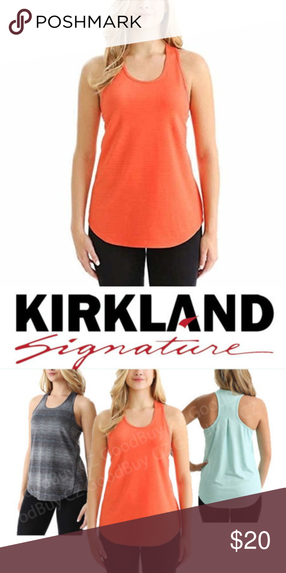 33cfc69c87dcc5 Kirkland Signature Coral Racerback Workout Tank Comfortable and cool vented  sleeveless snap button down top Cute