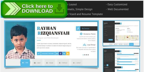 free nulled rayhan html resume template cv vcard download