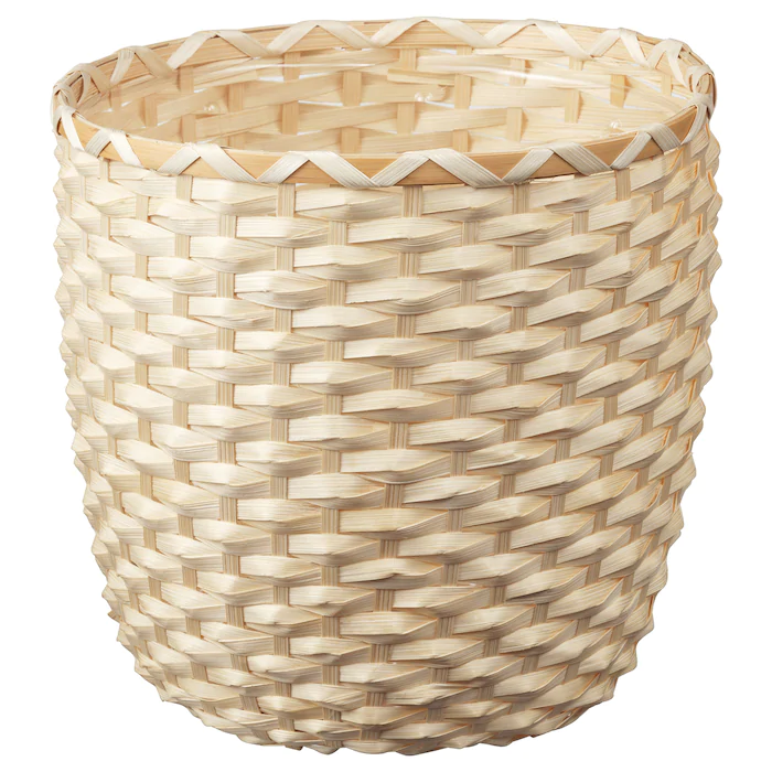 Kaffebona Cache Pot Bambou 24 Cm Materiau Durable Ikea Bamboo In Pots Indoor Plant Pots Potted Plants