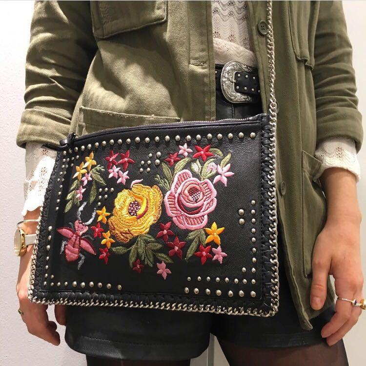 Embroidery Bag Flowers Bag Ethnic Bag Gift For Wife Boho Bag Women Leather Bag Woman Bag Crossbody Bag Shoulder Bag Floral Bag