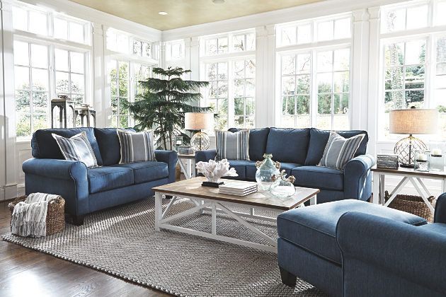 Best Nautical Inspired Sofa Living Room Set In Pacific Blue 640 x 480